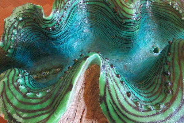 Paper clay Masse grün türkis