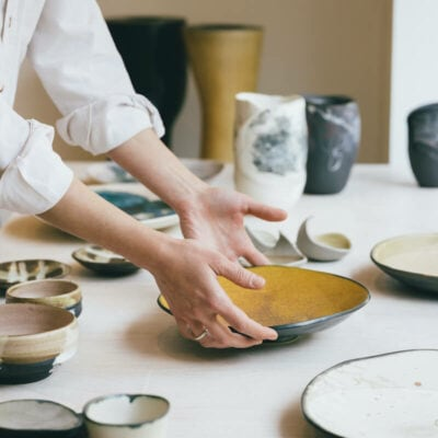 keramik teller und vasen