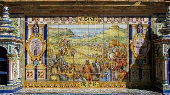 Keramik Wandfliesen Mosaik Muster Antike Freske
