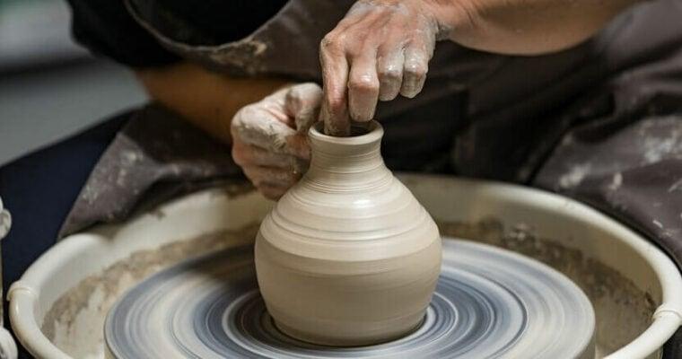 Ton Keramik Töpferscheibe Handgemacht